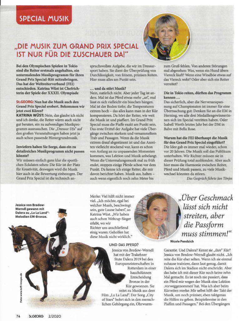 Artikel St. Georg - Kürmusik 2/2020 Seite 74