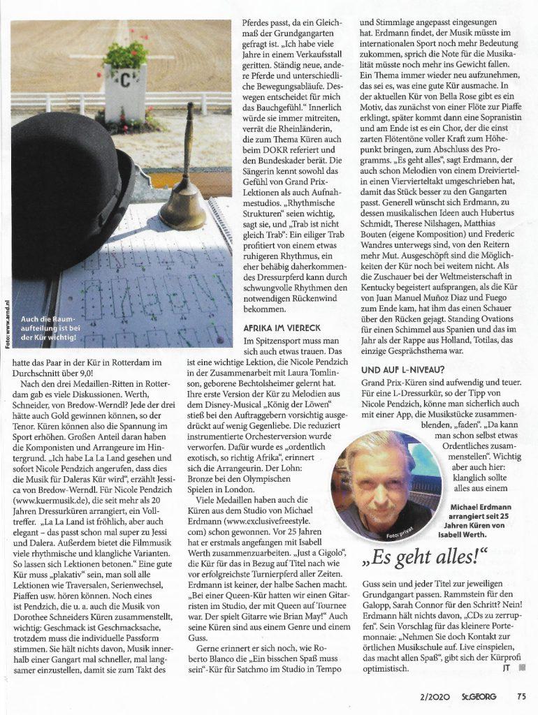 Artikel St. Georg - Kürmusik 2/2020 Seite 75