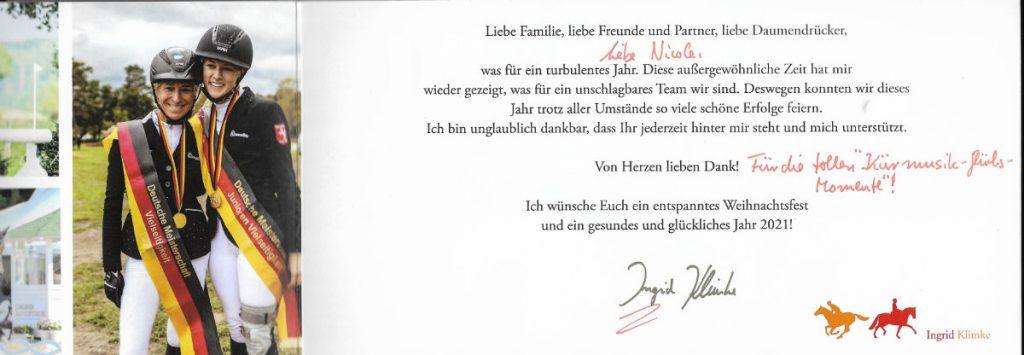 Ingrid Klimke Danke Kürmusik-Glücks-Momente